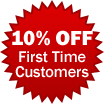 10% Off First Time Customers