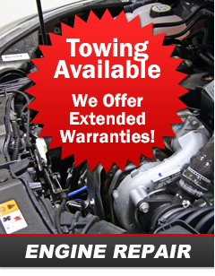 Towing Available / We Offer Extended Warranties!